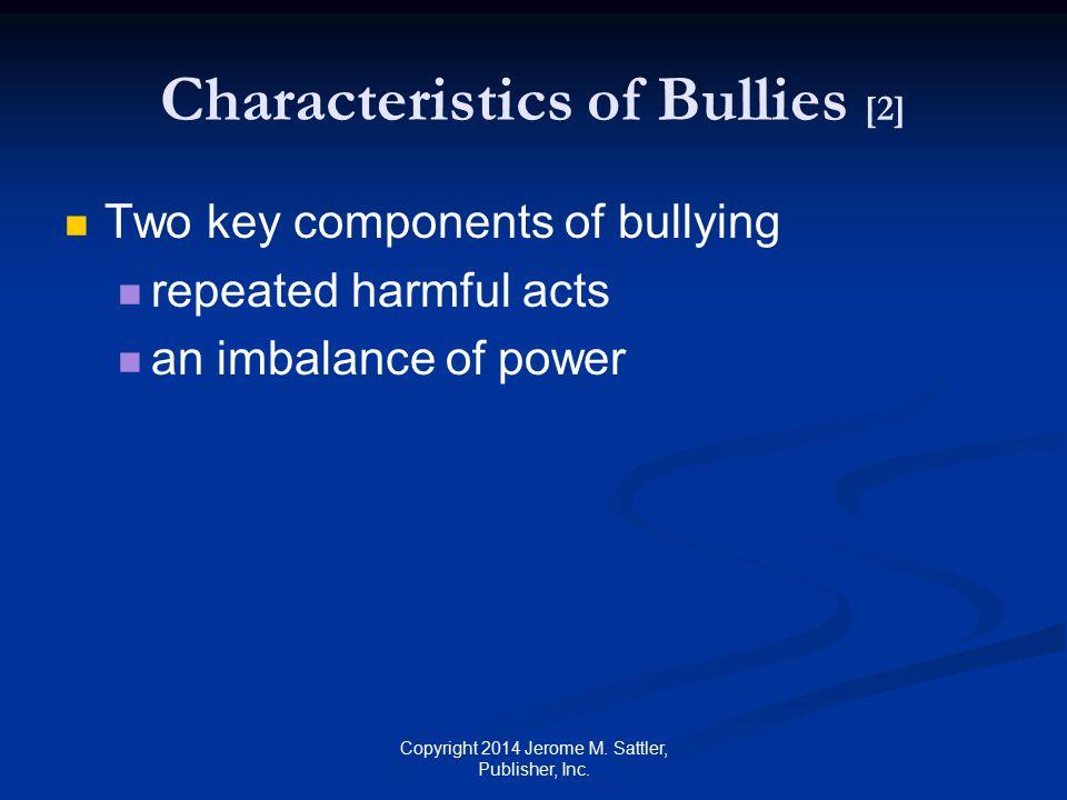 Characteristics of Bullies [2]